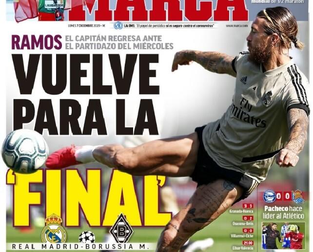 Portadas Diarios Deportivos Lunes 7/12/2020