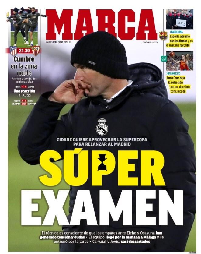 Portadas Diarios Deportivos Martes 12/1/2021