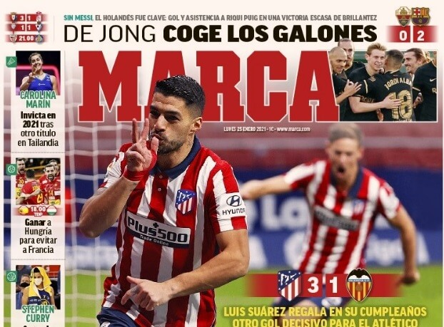 Portadas Diarios Deportivos Lunes 25/1/2021