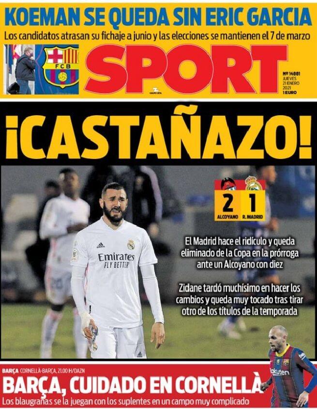 Portadas Diarios Deportivos Jueves 21/1/2021
