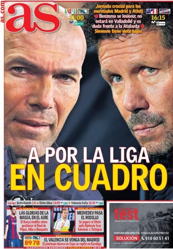Portadas Diarios Deportivos Sábado 20/2/2021