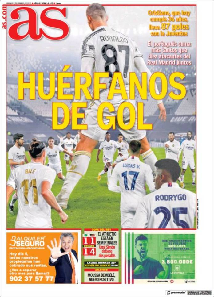 Portadas Diarios Deportivos Viernes 5/2/2021