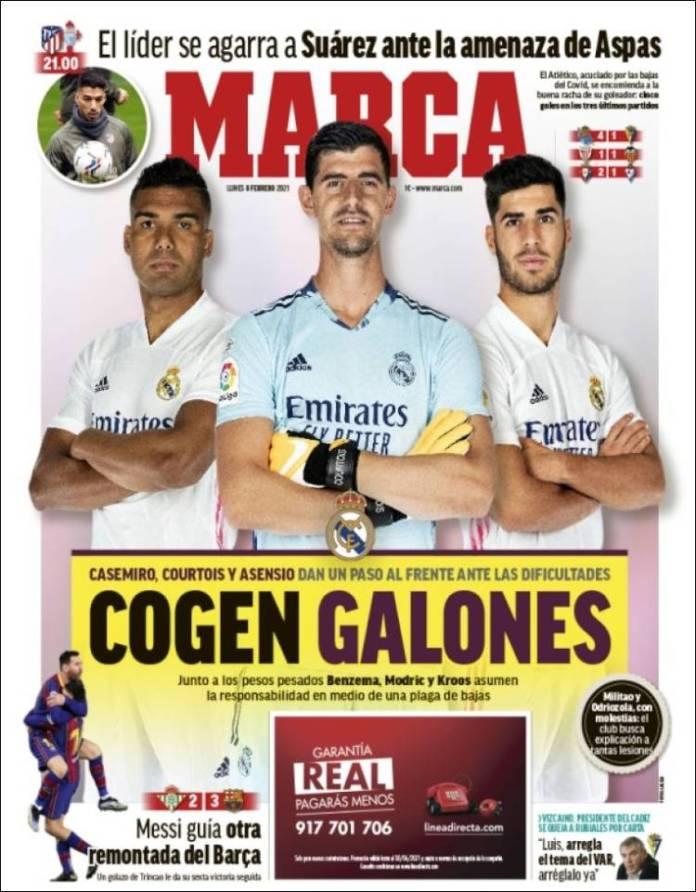 Portadas Diarios Deportivos Lunes 8/2/2021