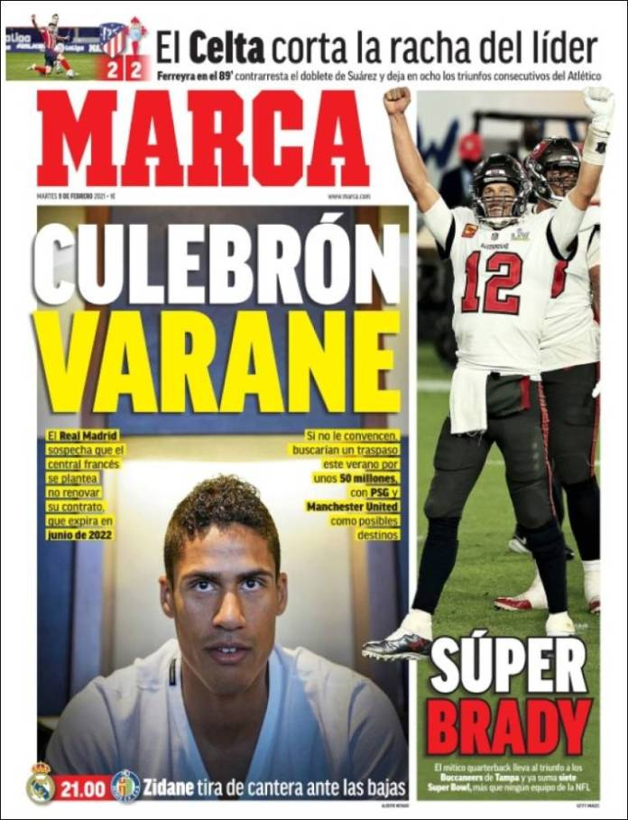 Portadas Diarios Deportivos Martes 9/2/2021