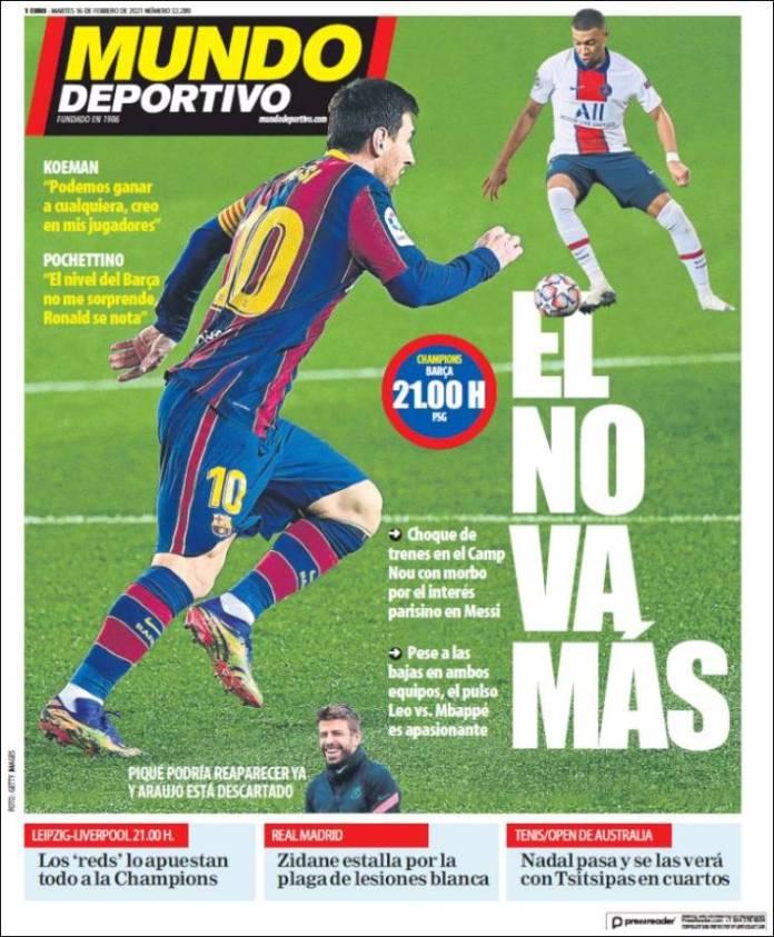 Portadas Diarios Deportivos Martes 16/2/2021