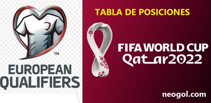 Eliminatorias Europeas Tabla de posiciones | Mundial Qatar 2022