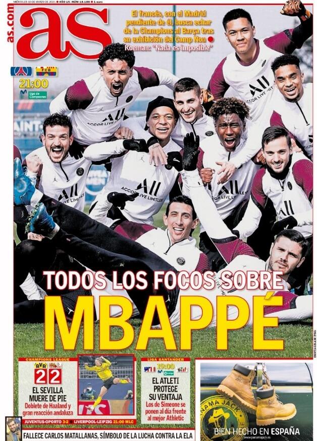 Portadas Diarios Deportivos Miércoles 10/3/202