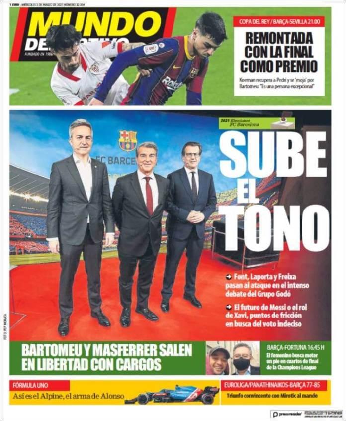 Portadas Diarios Deportivos Miércoles 3/3/2021