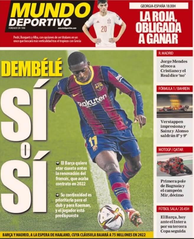 Portadas Diarios Deportivos Domingo 28/3/2021