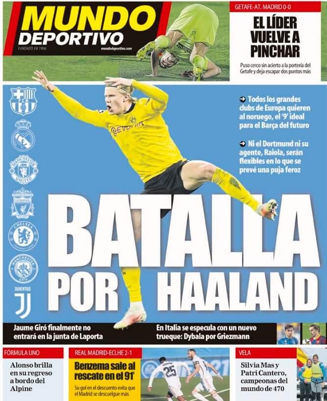 Portadas Diarios Deportivos Domingo 14/3/2021