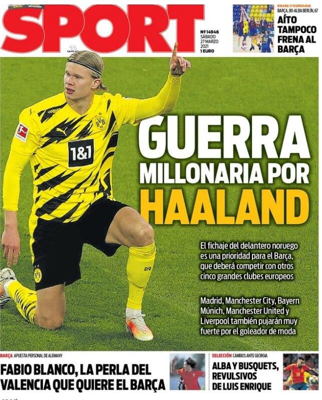 Portadas Diarios Deportivos Sábado 27/3/2021
