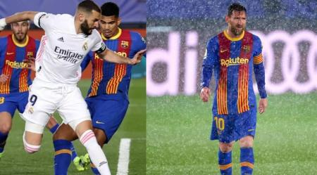 El Madrid vence 2-1 al Barça y alcanza la cima