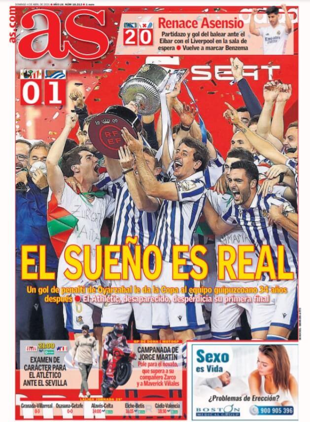Portadas Diarios Deportivos Domingo 4/4/2021