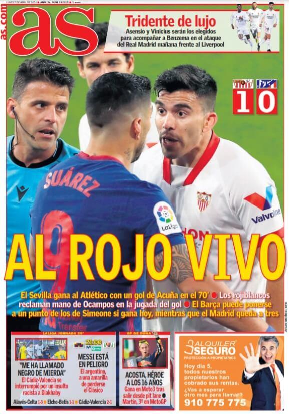 Portadas Diarios Deportivos Lunes 5/4/2021