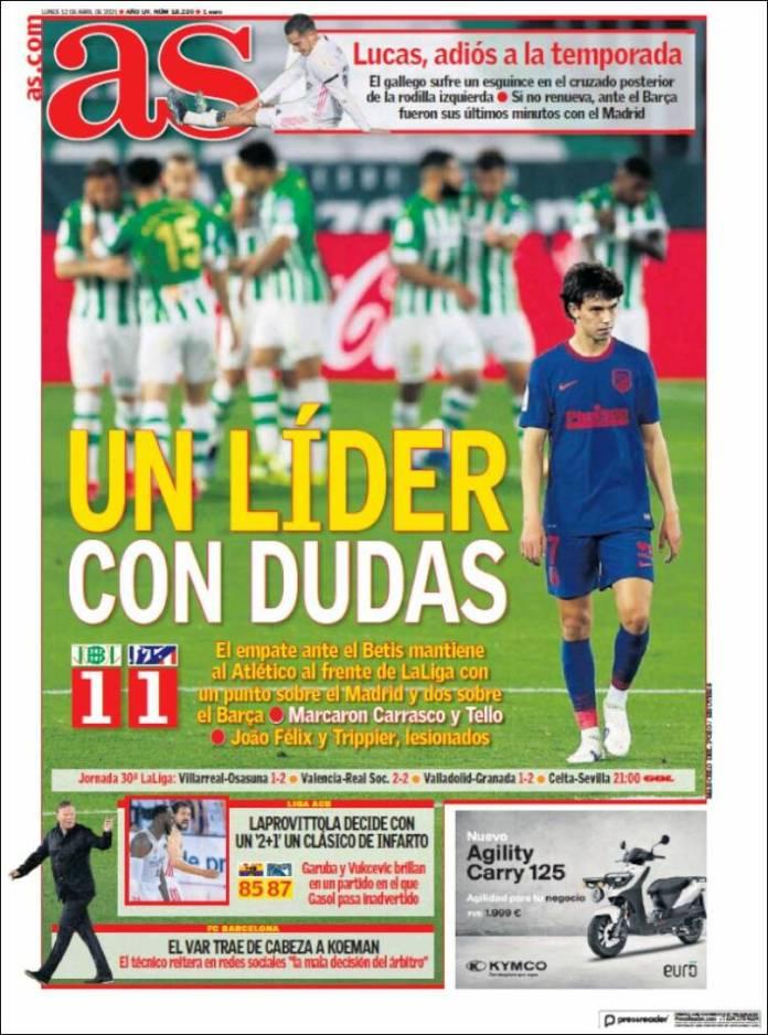 Portadas Diarios Deportivos Lunes 12/4/2021