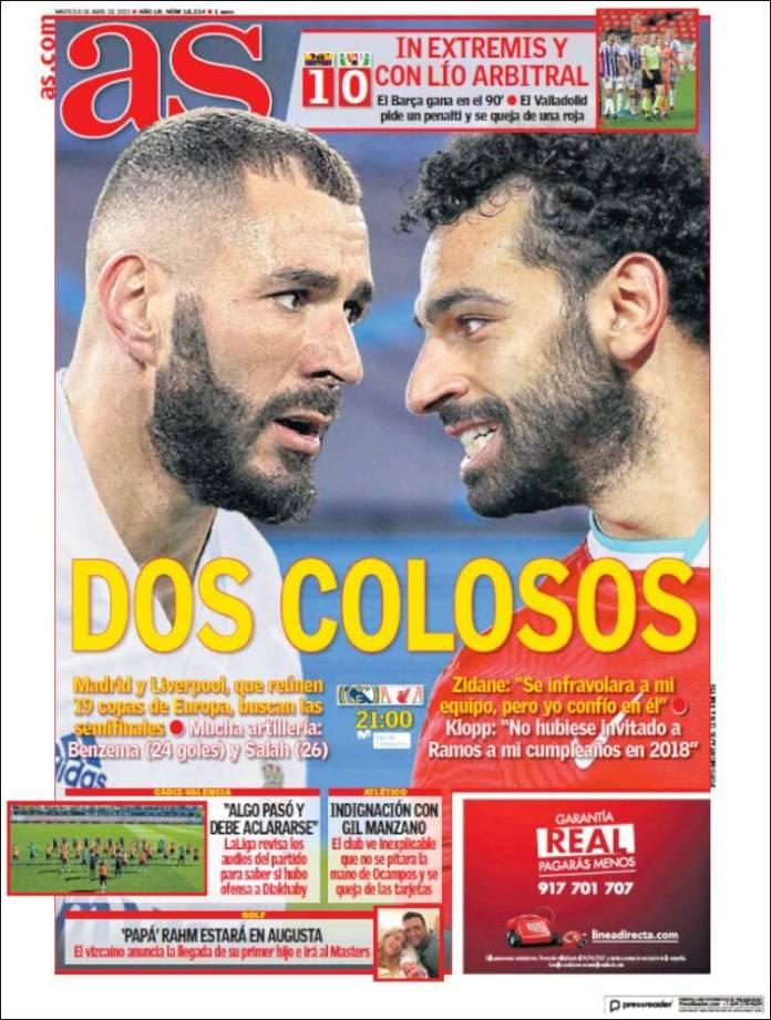 Portadas Diarios Deportivos Martes 6/4/2021