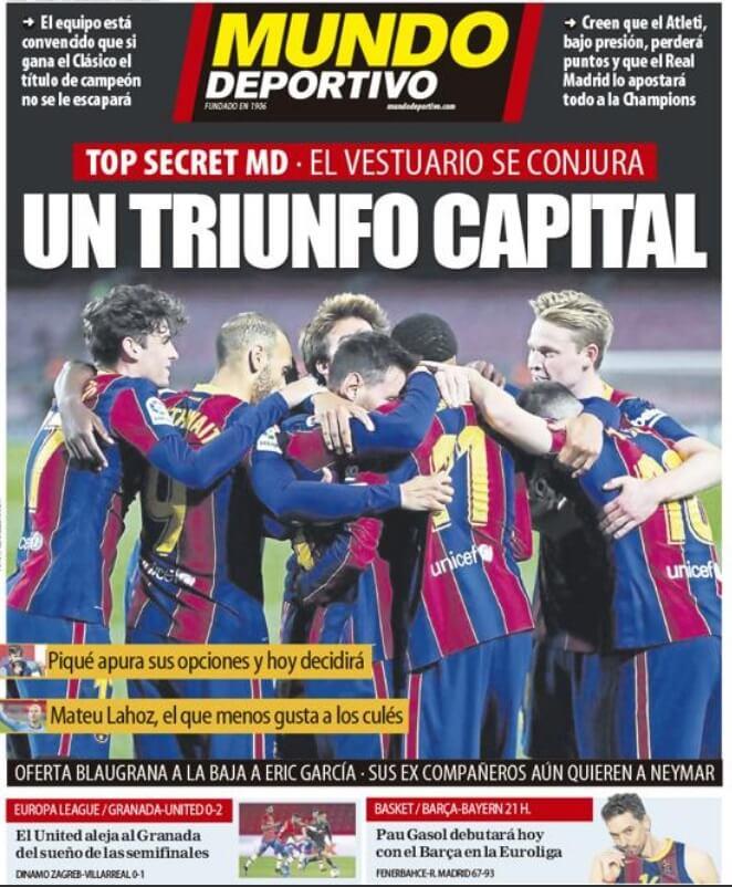 Portadas Diarios Deportivos Viernes 9/4/2021