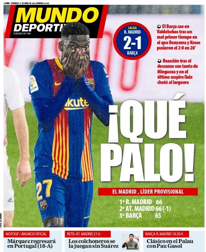 Portadas Diarios Deportivos Domingo 11/4/2021
