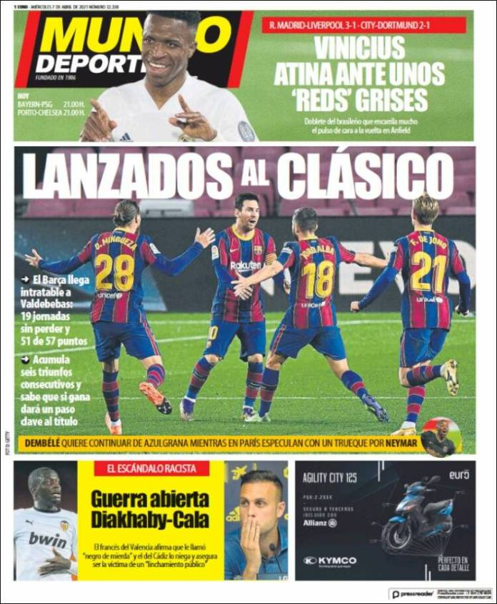Portadas Diarios Deportivos Miércoles 7/4/2021