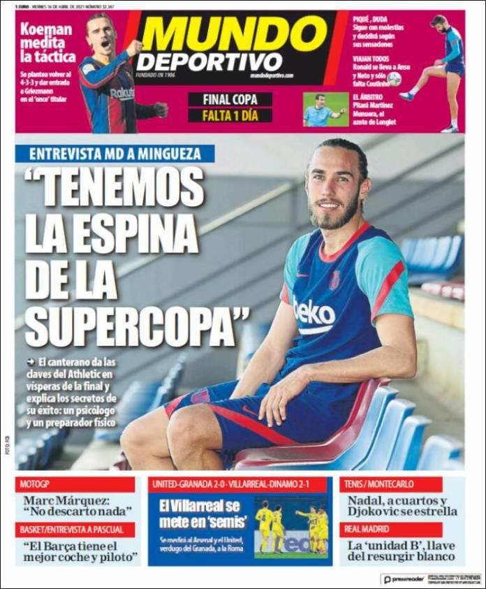 Portadas Diarios Deportivos Viernes 16/4/202