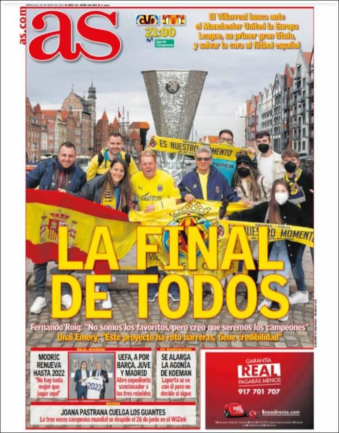 Portadas Diarios Deportivos Miércoles 26/5/2021