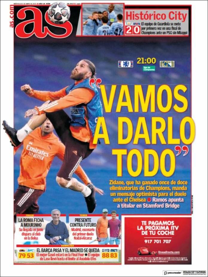 Portadas Diarios Deportivos Miércoles 5/5/2021