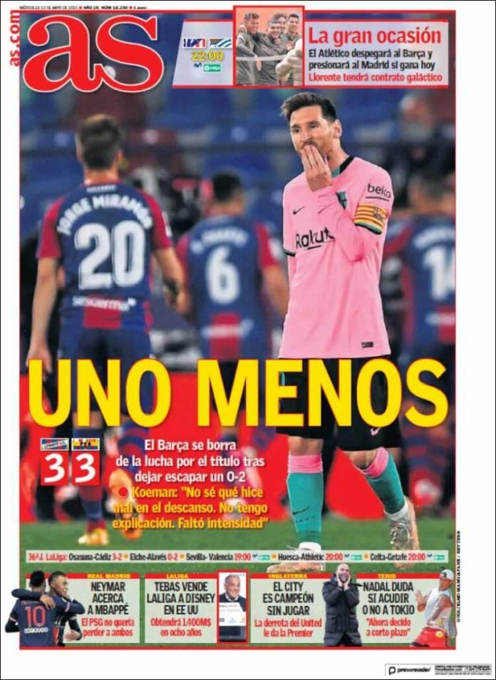 Portadas Diarios Deportivos Miércoles 12/5/2021