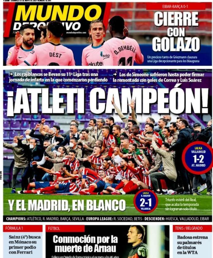 Portadas Diarios Deportivos Domingo 23/5/2021