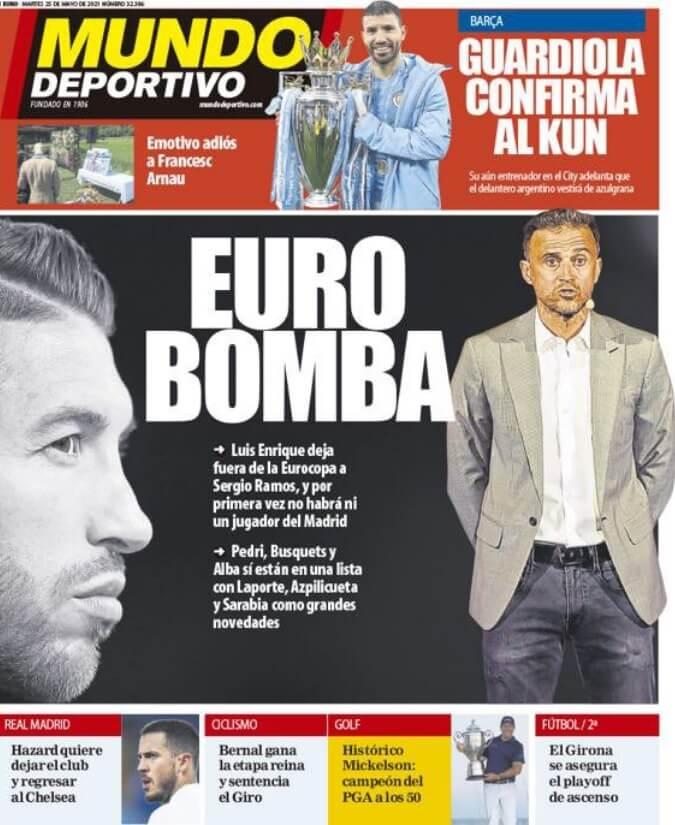 Portadas Diarios Deportivos Martes 25/5/2021