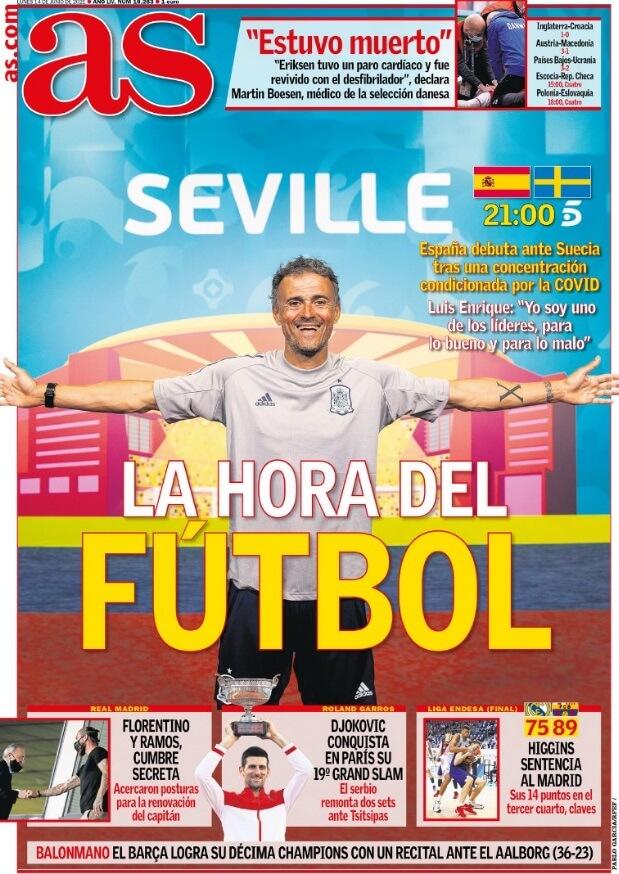 Portadas Diarios Deportivos Lunes 14/6/2021