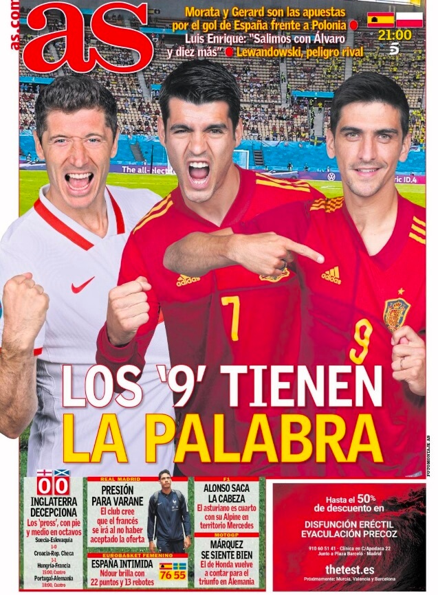 Portadas Diarios Deportivos Sábado 19/6/2021