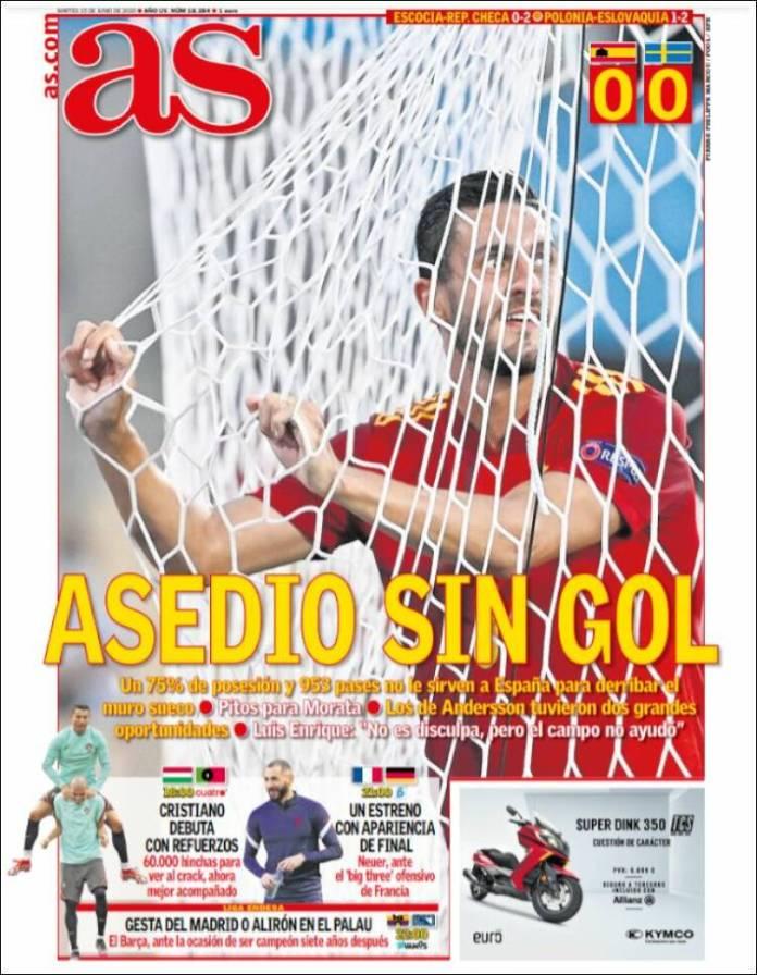 Portadas Diarios Deportivos Martes 15/6/2021
