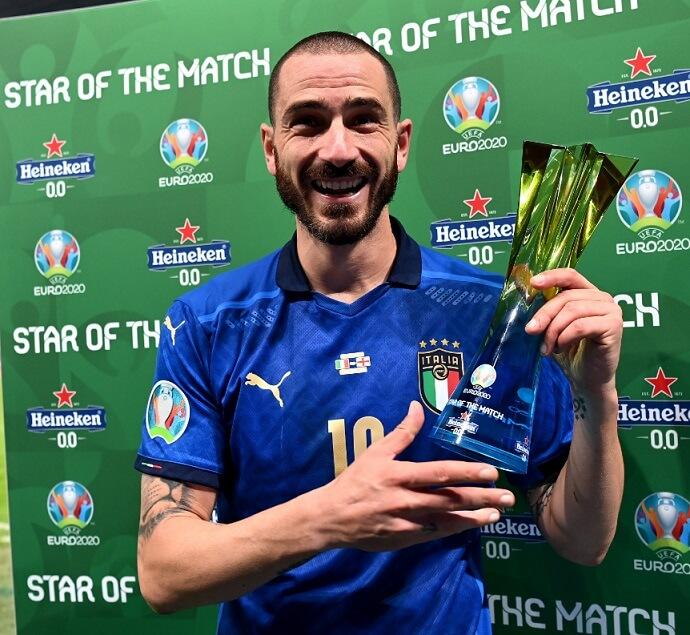 Mejor jugador de la final de la Euro 2021 Leonardo Bonucci (Italia)
