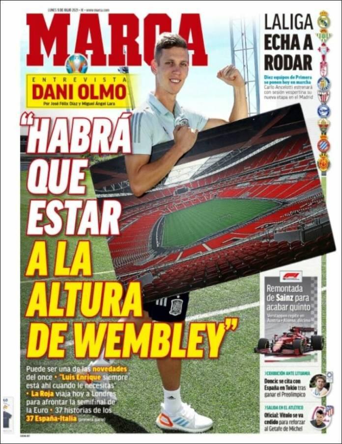 Portadas Diarios Deportivos Lunes 5/7/2021
