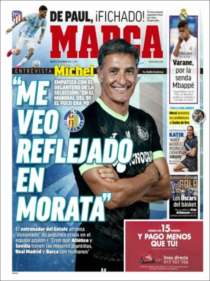 Portadas Diarios Deportivos Martes 13/7/2021