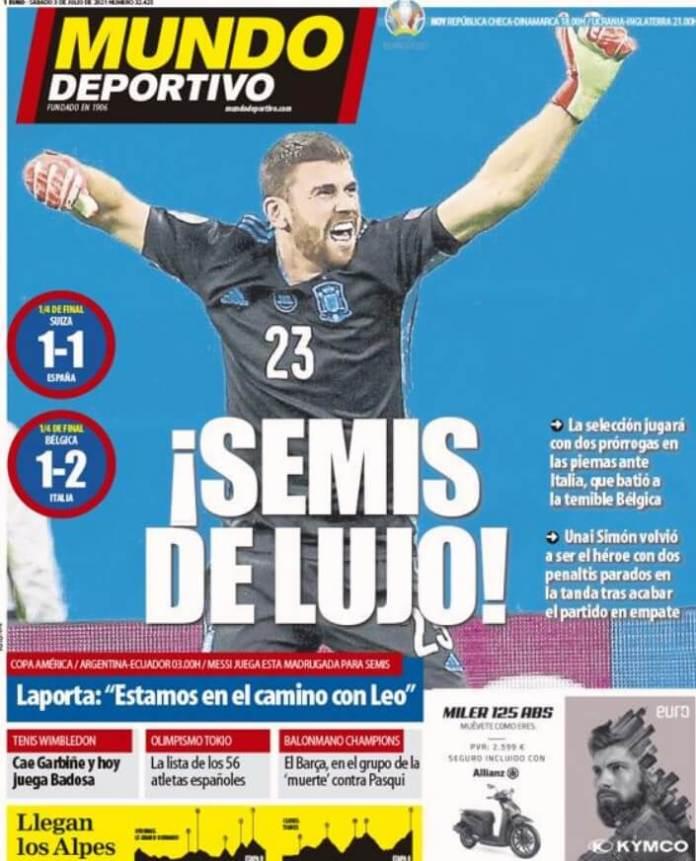 Portadas Diarios Deportivos Sábado 3/7/2021