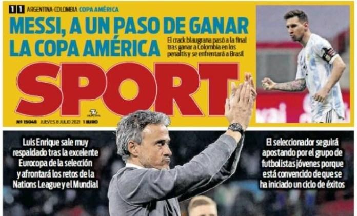 Portadas Diarios Deportivos Viernes 8/7/2021