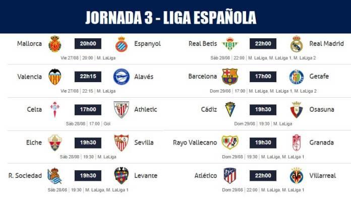 Jornada 3 Liga Santander 2021-22