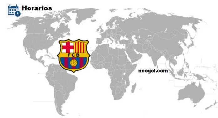 A que hora juega el Barcelona Hoy