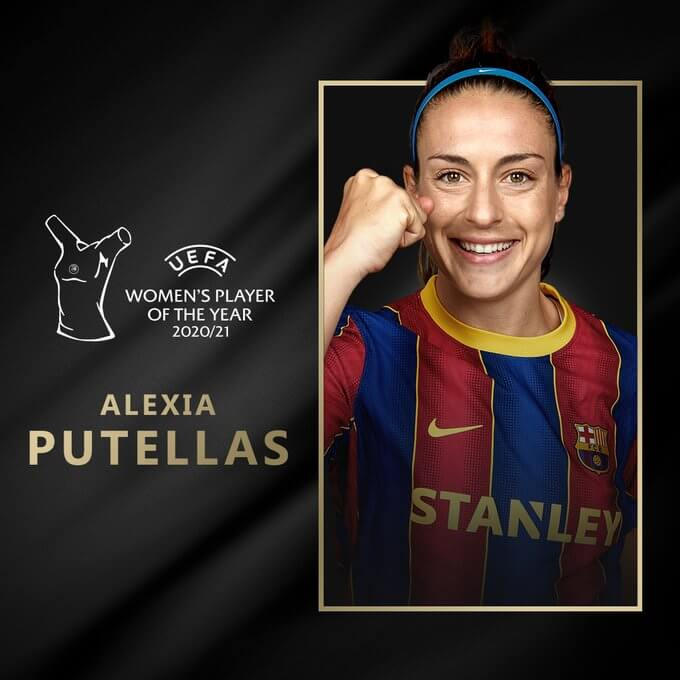 Alexia Putellas UEFA BEST PLAYER femenino del 2020-21