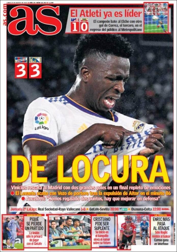 Portadas Diarios Deportivos Lunes 23/8/2021