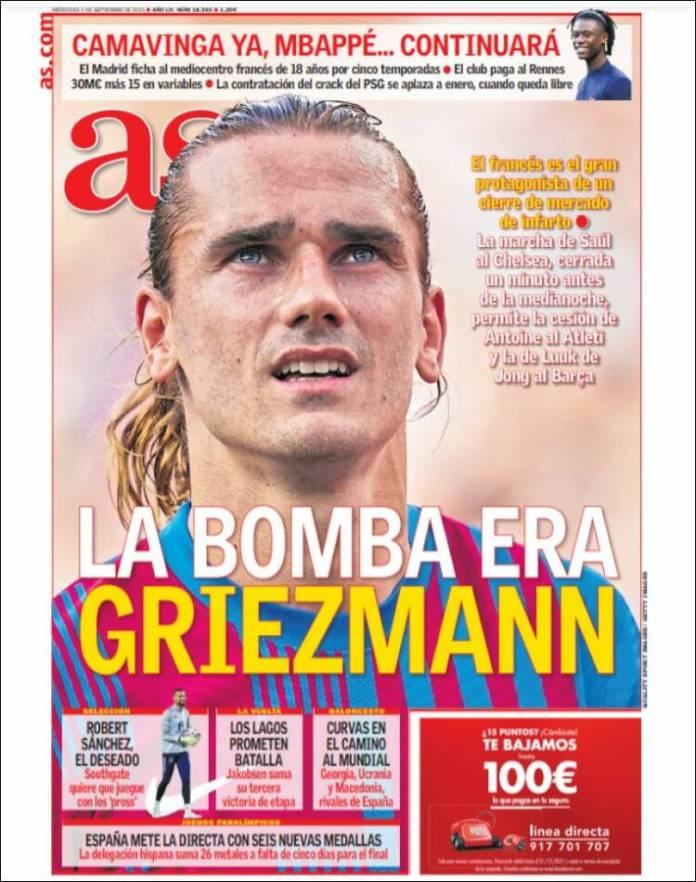 Portadas Diarios Deportivos Miércoles 1/9/2021