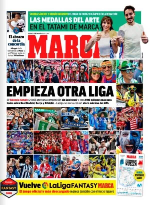 Portadas Diarios Deportivos Viernes 13/8/2021