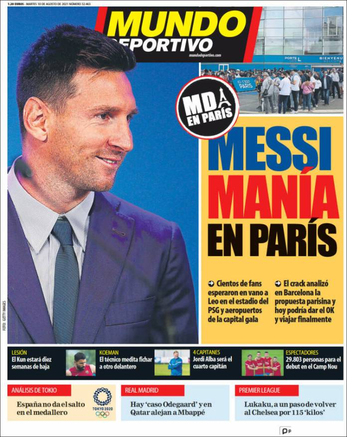 Portadas Diarios Deportivos Martes 10/8/2021