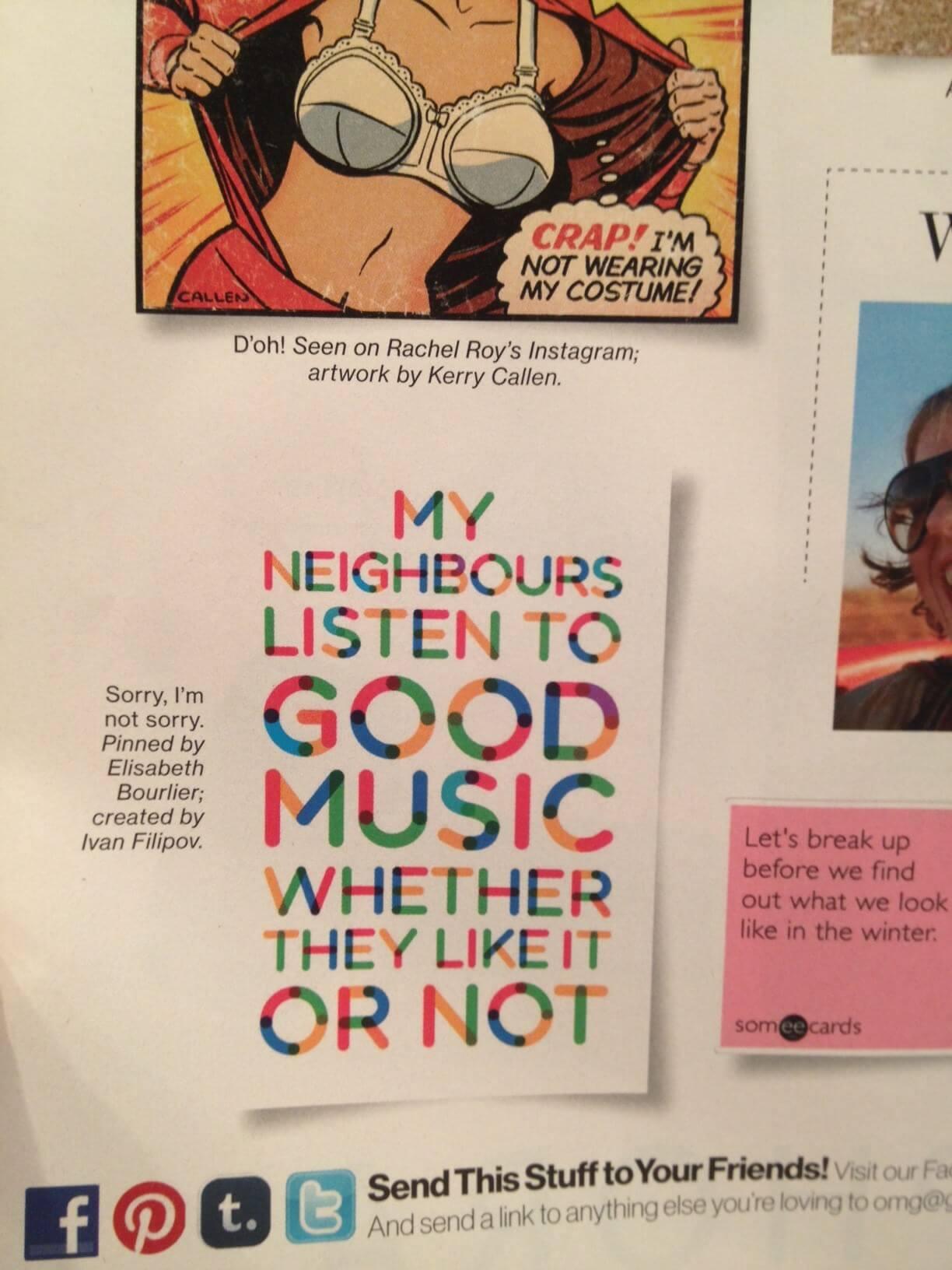 Multicolore as shown in Glamour Magazine