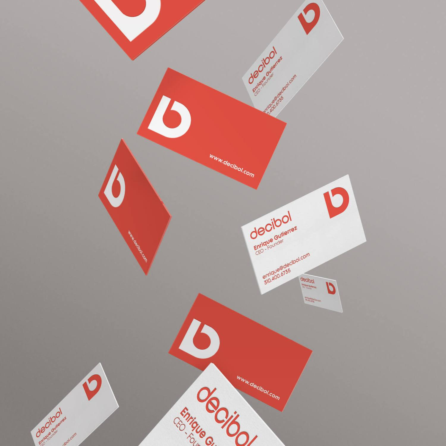 Decibol Gravity Business Cards