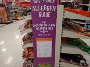 Target Halloween Allergen Display
