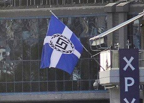 Ψαριανός | Η Χρυσή Αυγή παραποιεί την ελληνική σημαία