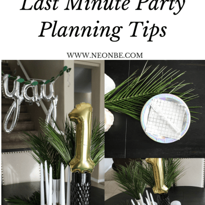 5 Last Minute Party Planning Tips