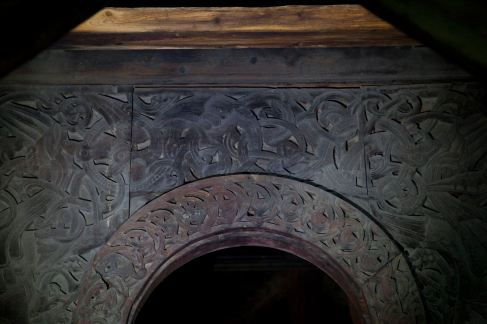 Inside Borgund Stave Church